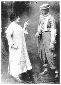 Morton and vaudeville partner Rosa Brown c1914
